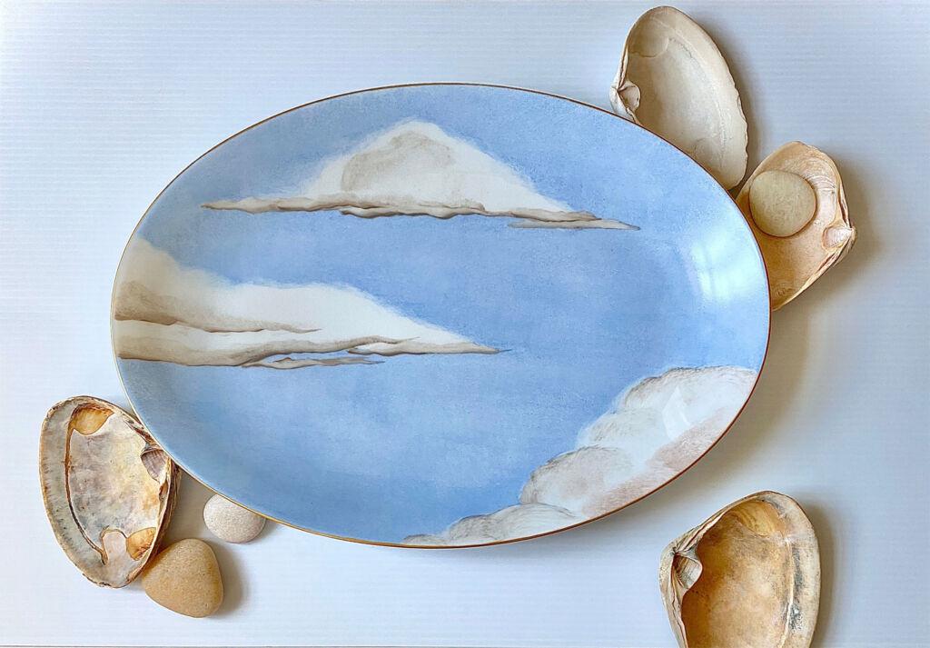 Jonathan Hansen Ciels Bleus plate