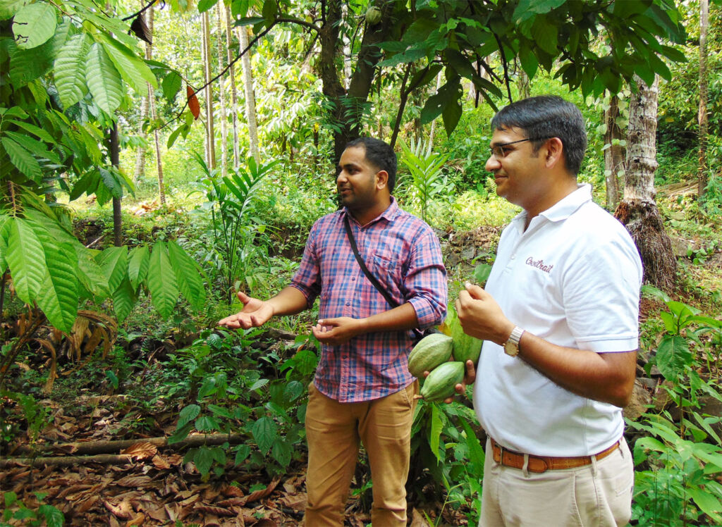L Nitin Chordia sourcing beans for chocolate