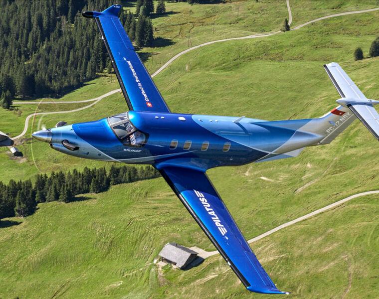 Oriens Pilatus PC-12 NGX in flight