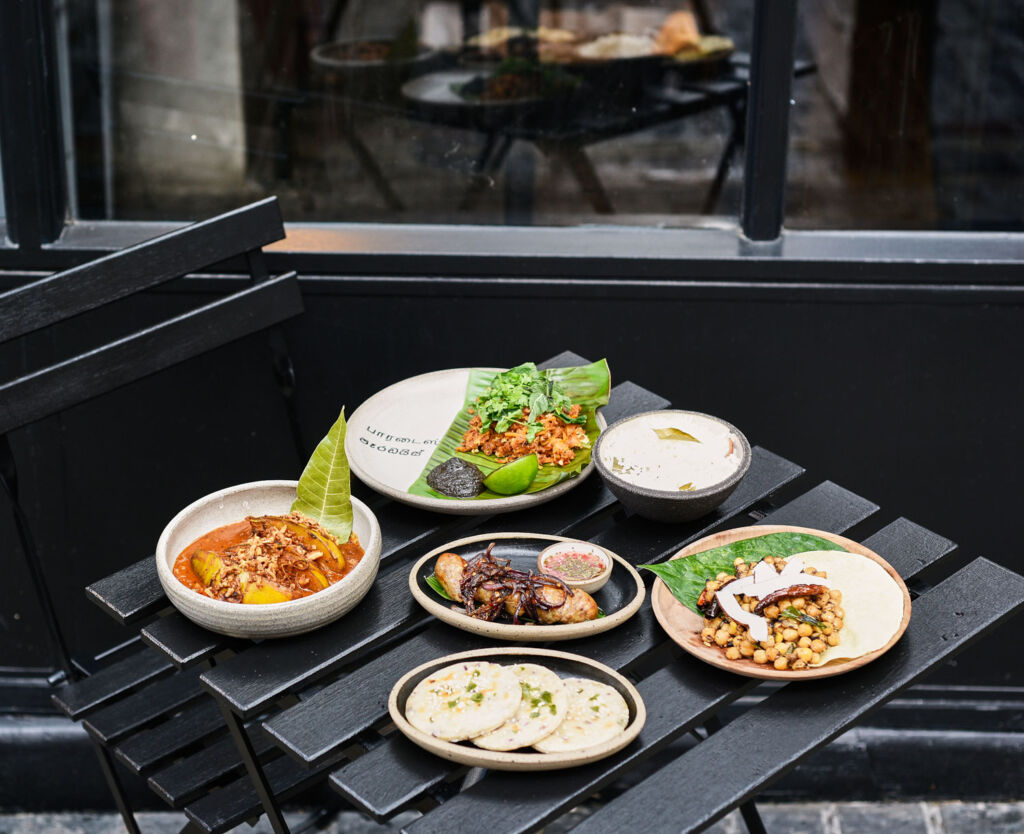 Outdoor dining at Paradise Restaurant in London