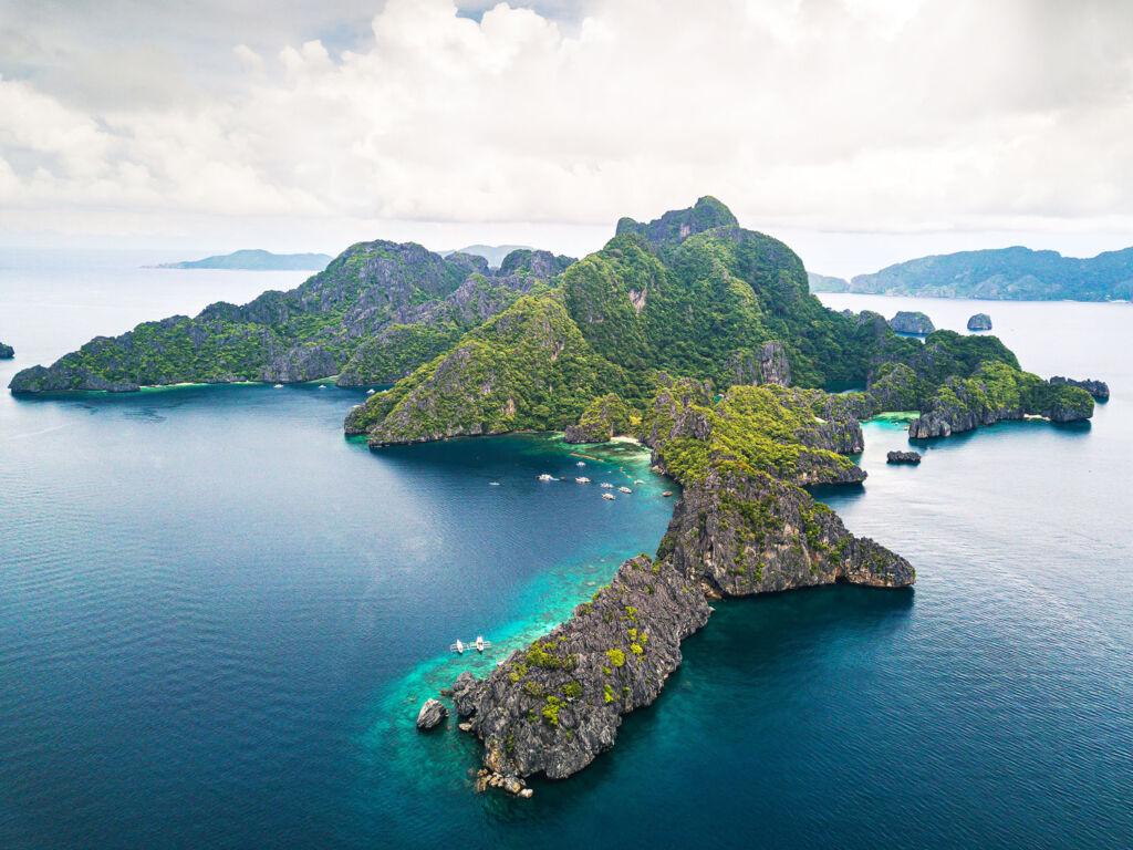 Pavilions El Nido Palawan Island aerial photo