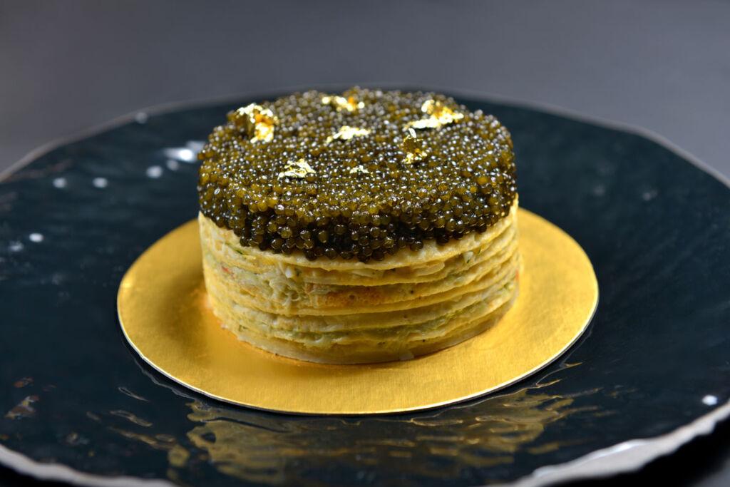 Royal Caviar Club caviar crepe cake