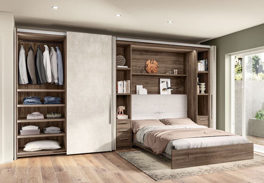 There is ample storage space in the BoxLife bedroom module