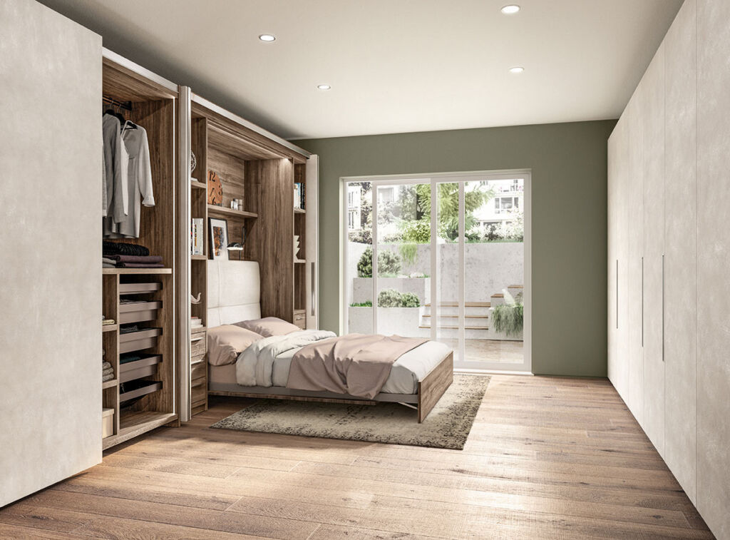 Scavolini's BoxLife transforming into a bedroom