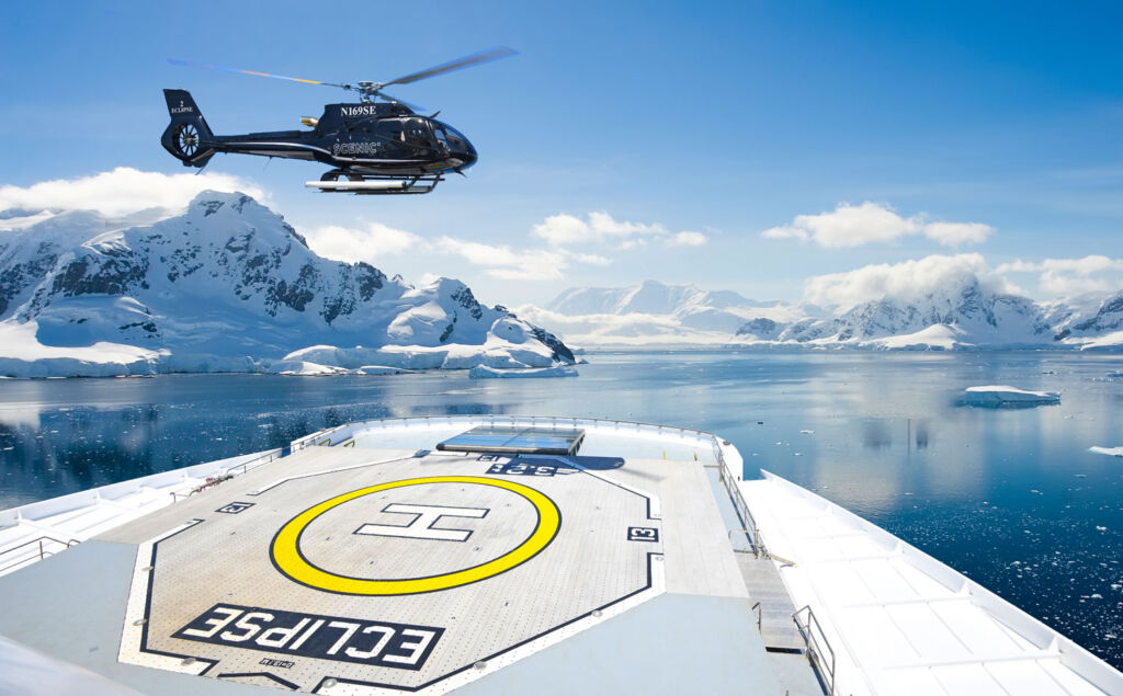 Scenic Eclipse helicopter rides