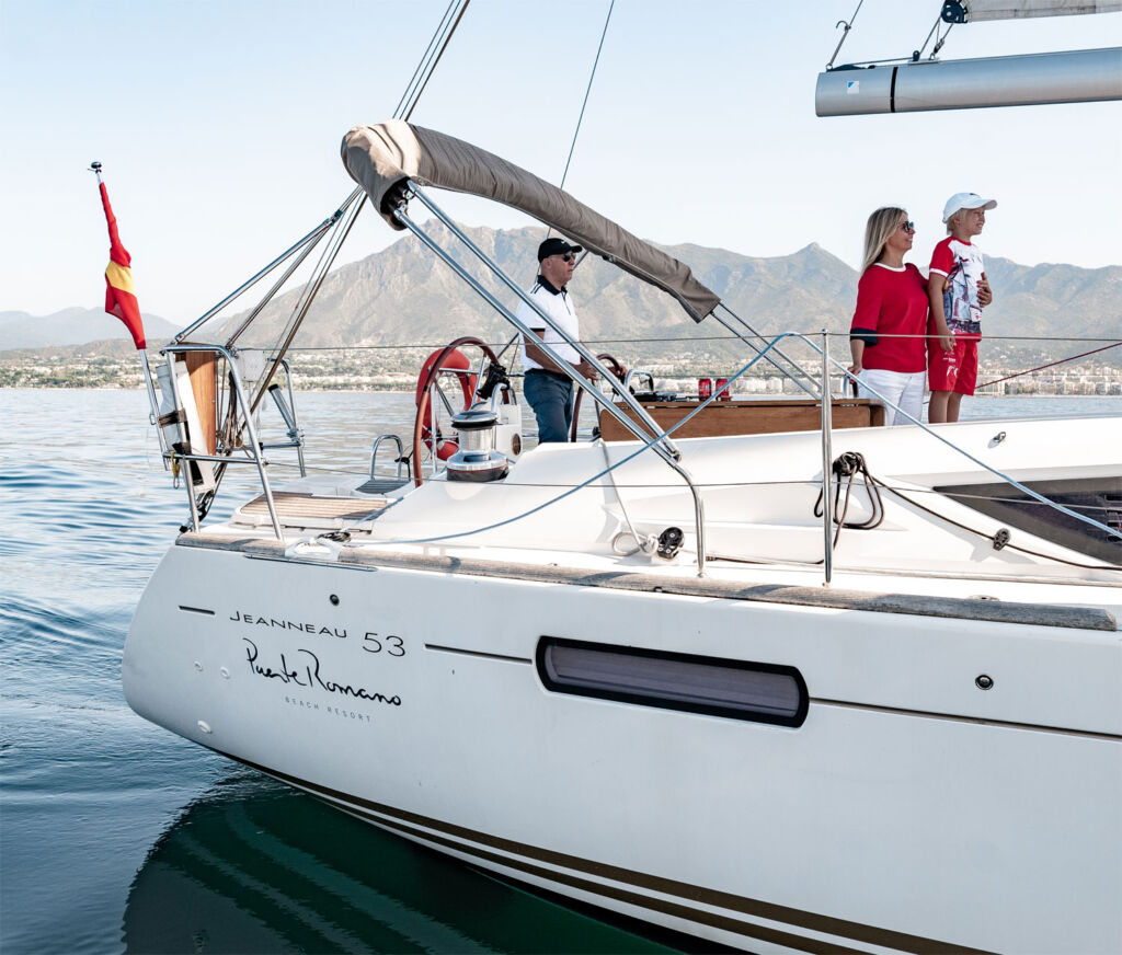 Skipper for a day on the Puente Romano sailing yacht
