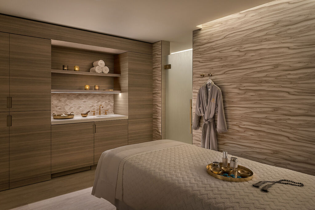 Spa treatment room at the Phoenician Hotel in Scottsdale