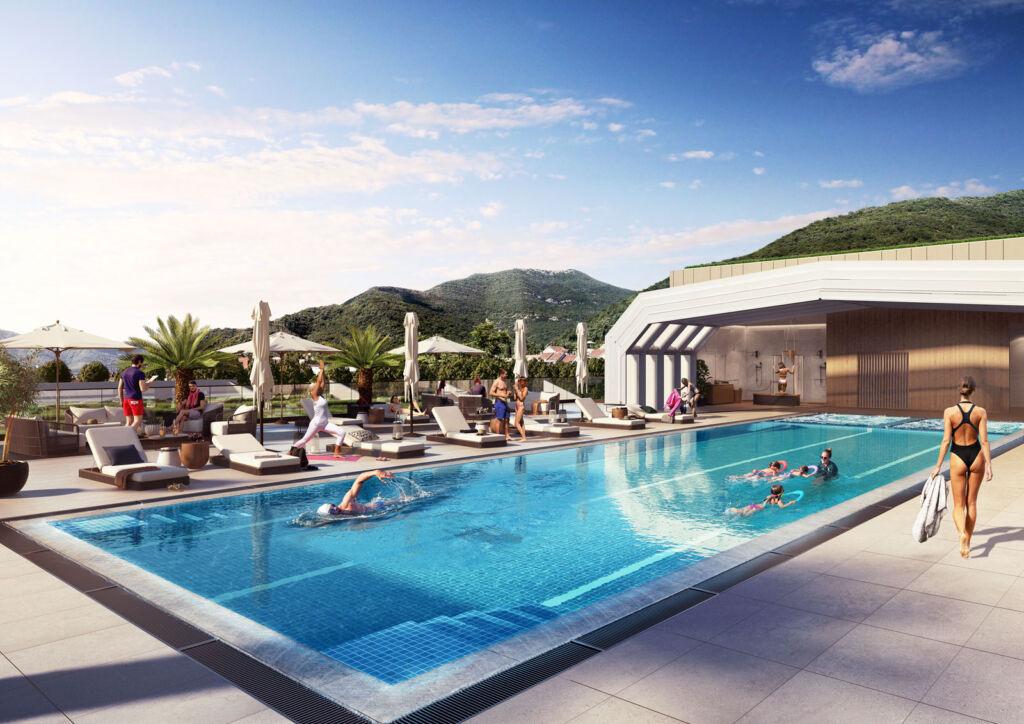 Swimming pool at  Boka Place
