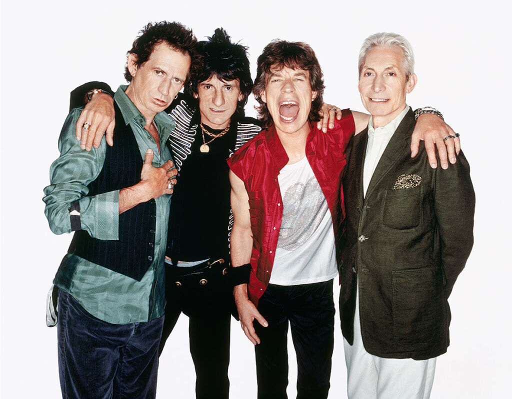 Photograph of the Rolling Stones by RANKIN