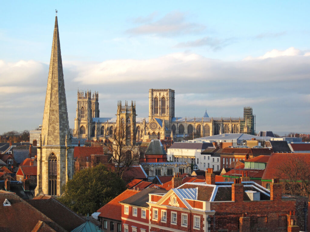 The York skyline showing the cathedral