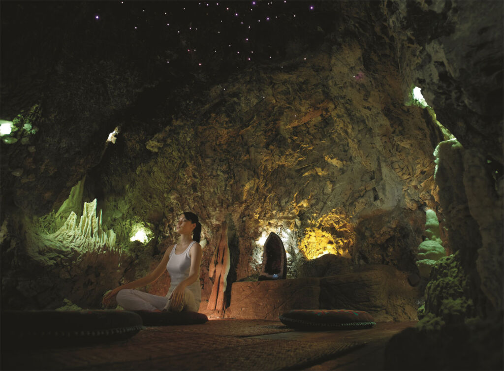 The crystal cave at the Banjaran