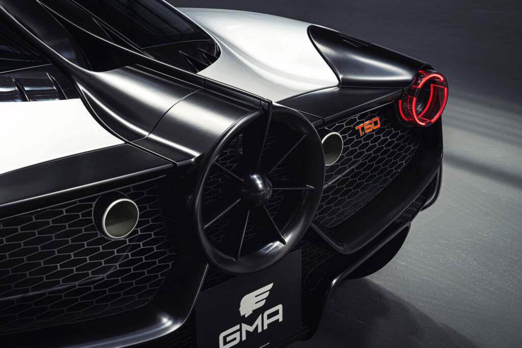 The rear of the GMA T50 supercar