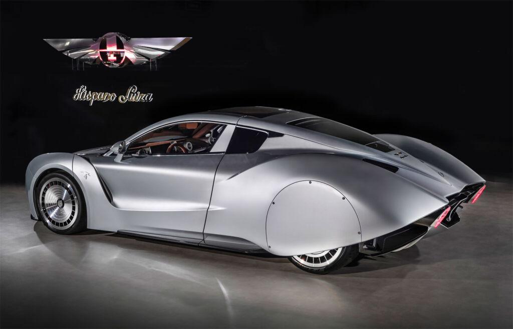 The teardrop shape of the Hispano Suiza