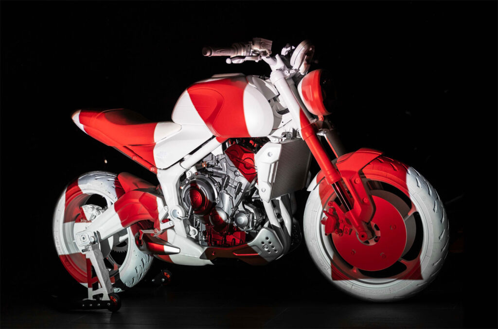 Triumph Trident Design Prototype in red and white