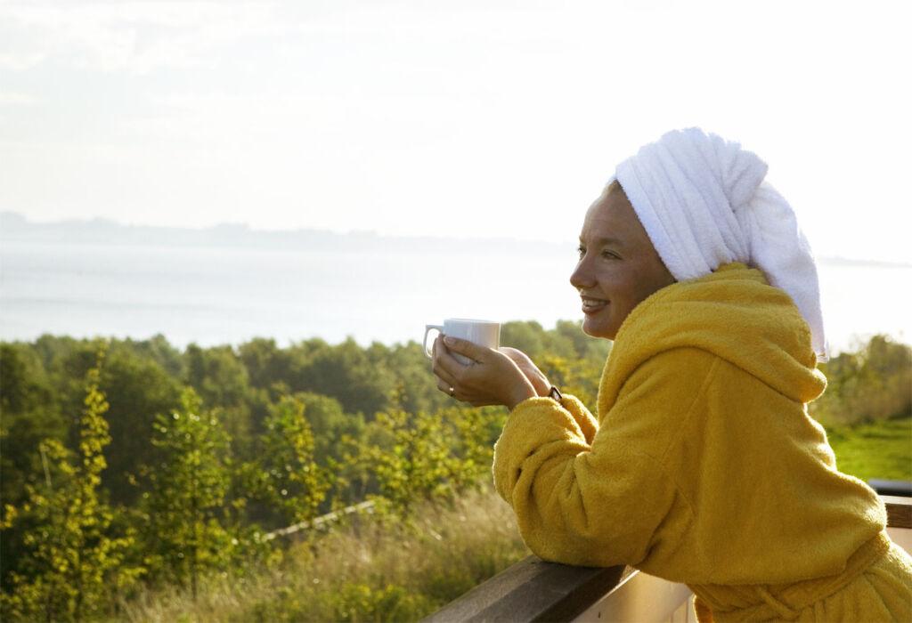 Woman enjoying the views in South East Jutland
