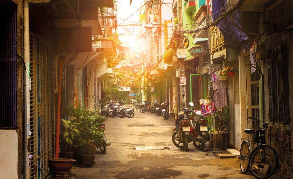 Side street in Ho Chin Minh City