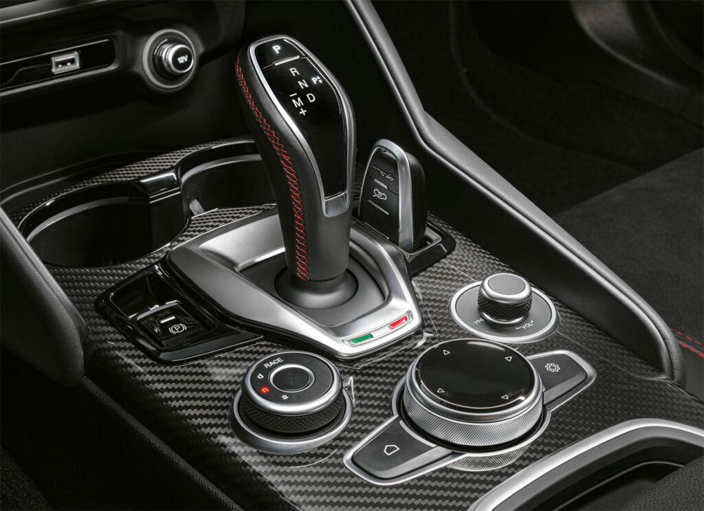 The gear stick inside the car is a beautiful piece of design