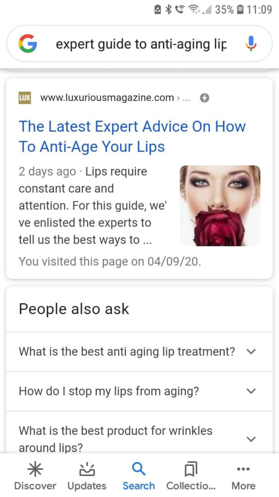 expert guide to anti-ageing lips