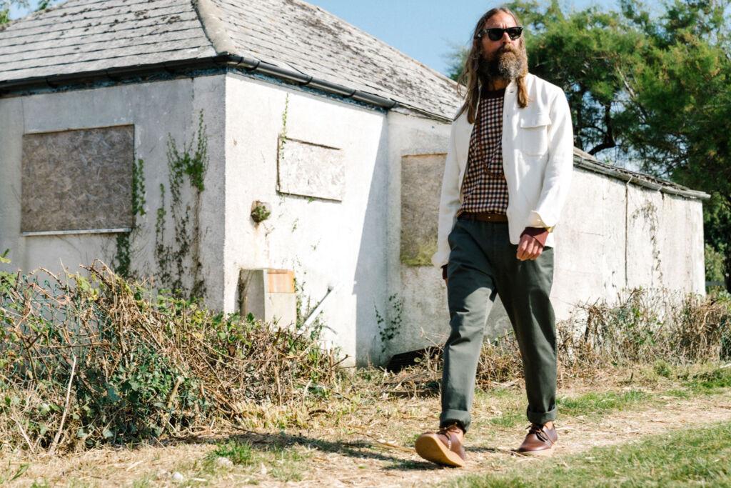 Bearded Male Model wearing Yogi Footwear