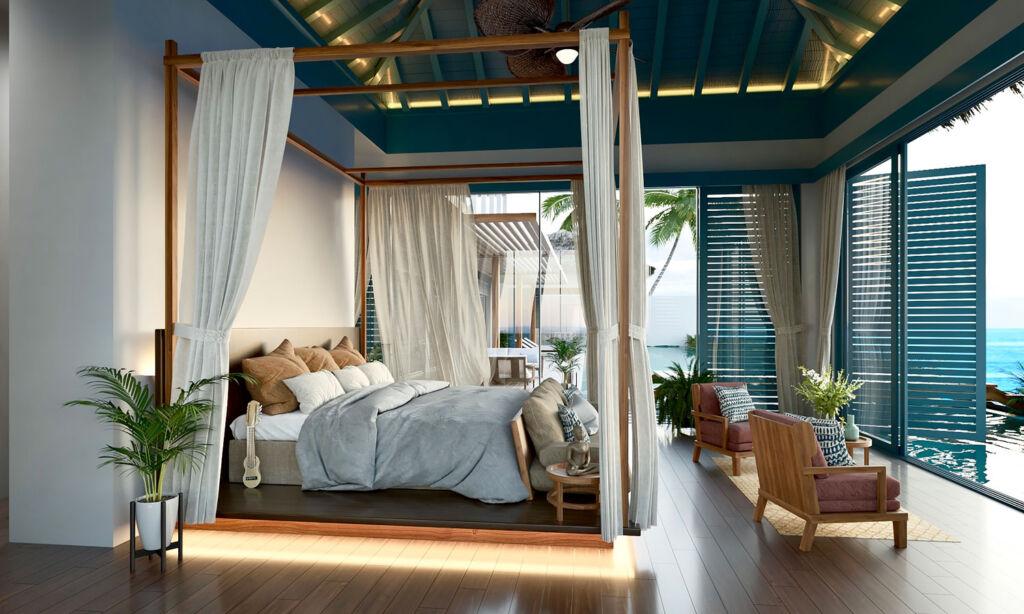 Bedroom in the Raffles Royal Residence