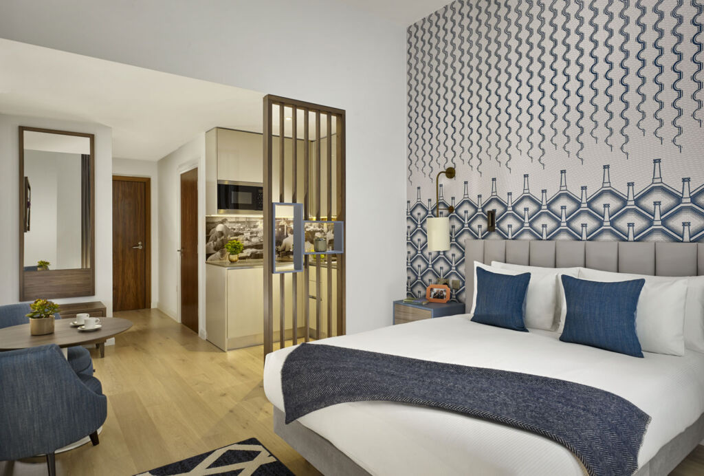 Bedroom inside Citadines Islington London