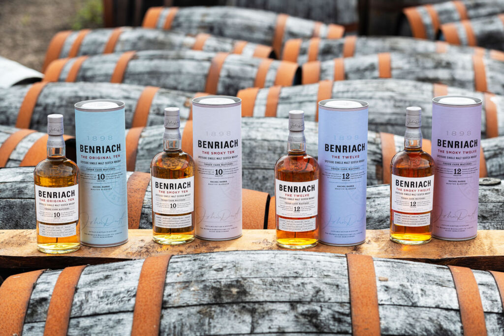 Some of the whiskies in the current Benriach range