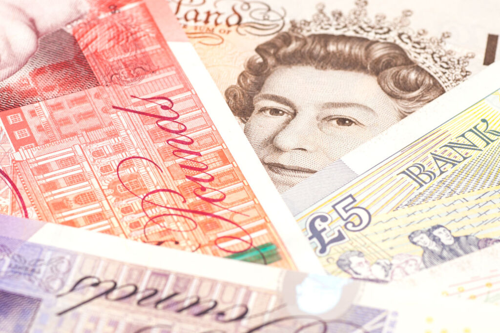 British sterling paper currency