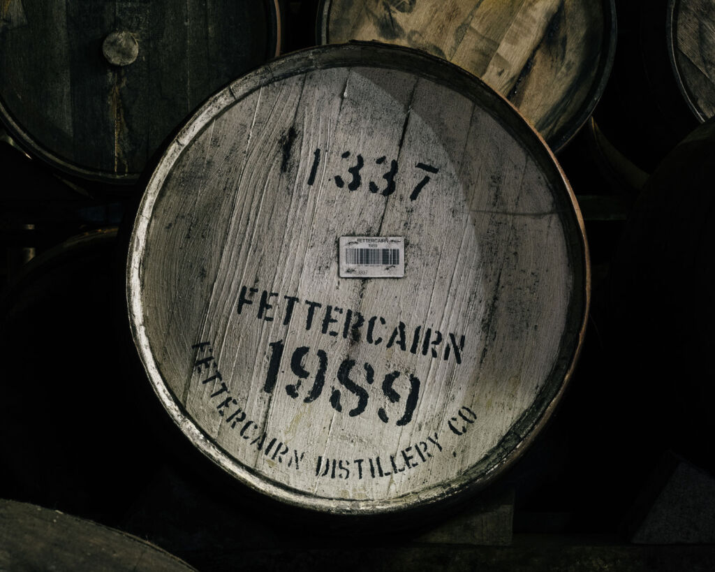 A Fettercairn Distillery whisky barrel