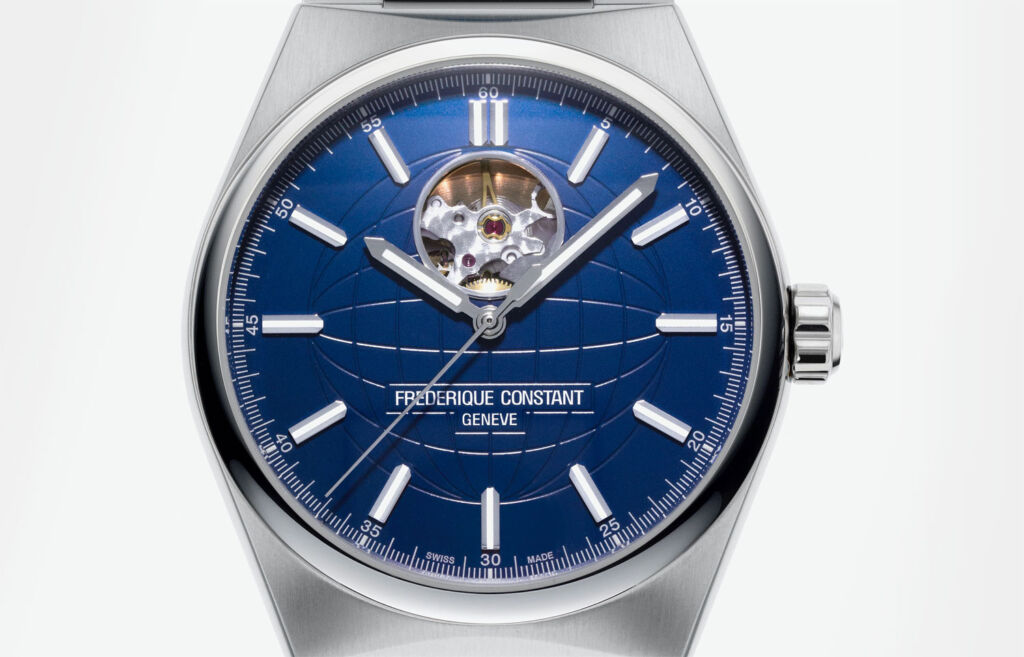 Blue-faced Frederique Constant Highlife watch