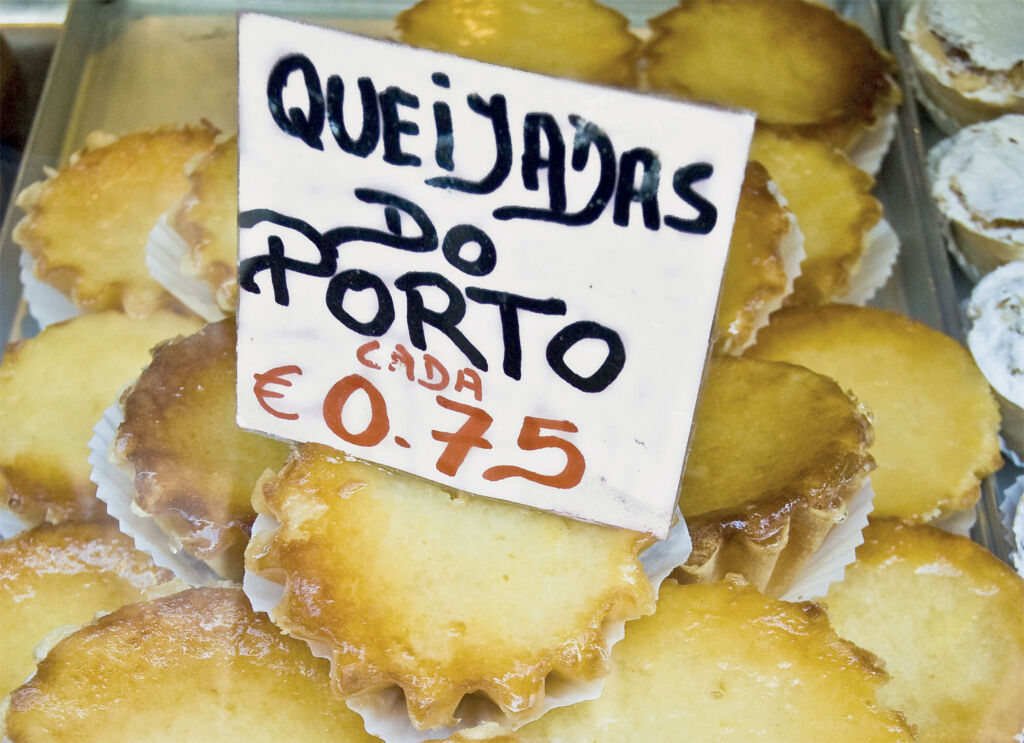 Freshly made Queijadas in Portugal