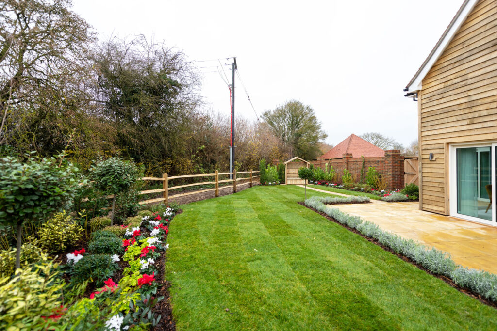 A garden at one of the Radstone Gate properties