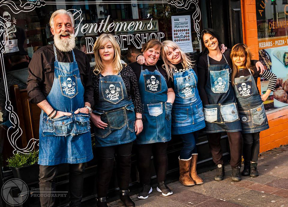 Group of people wearing Titanic Denim