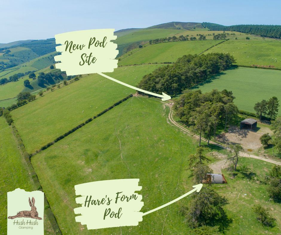 Location of new glamping pod