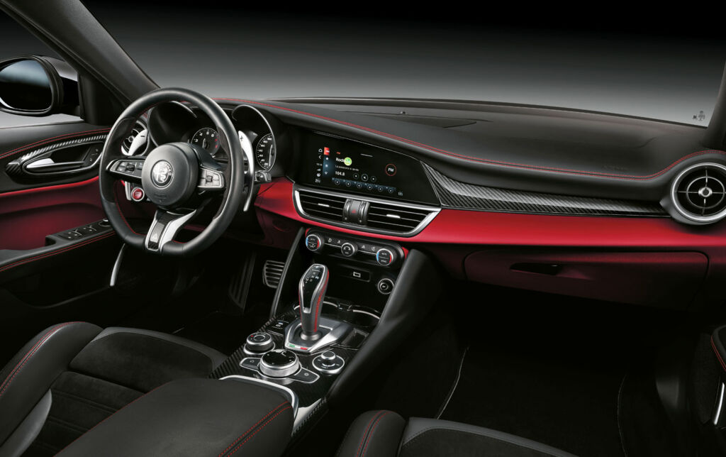 The interior of the car is uncluttered but still offers a luxury feel