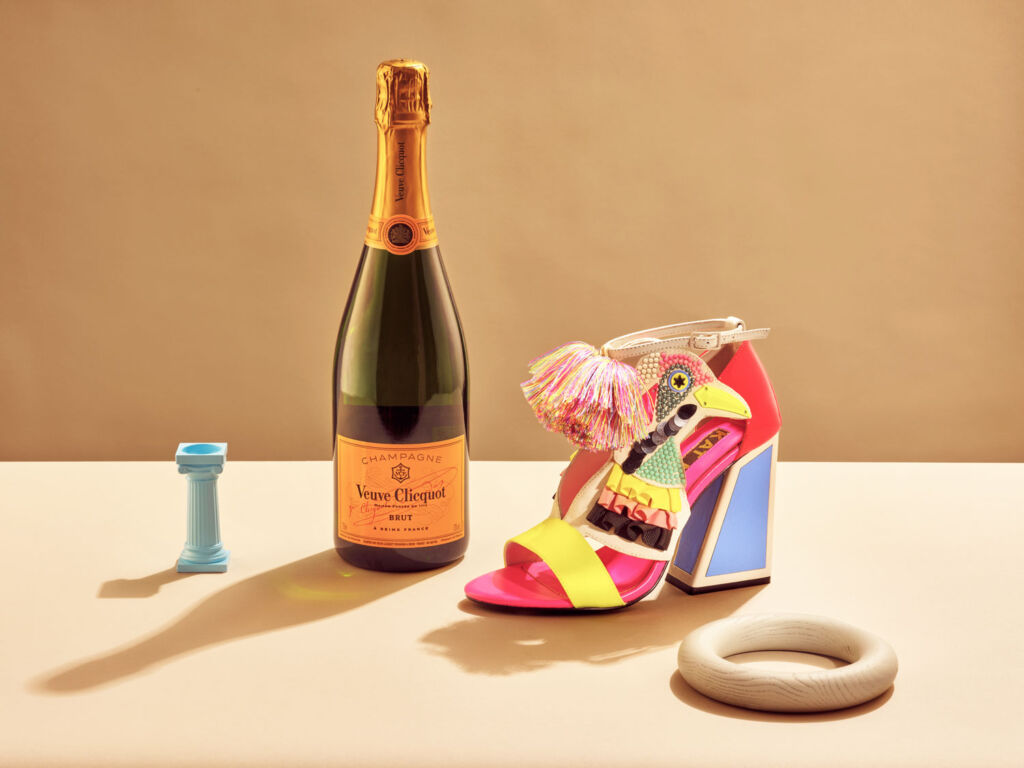 Kat Maconie Champagne bar with Veuve Clicquot
