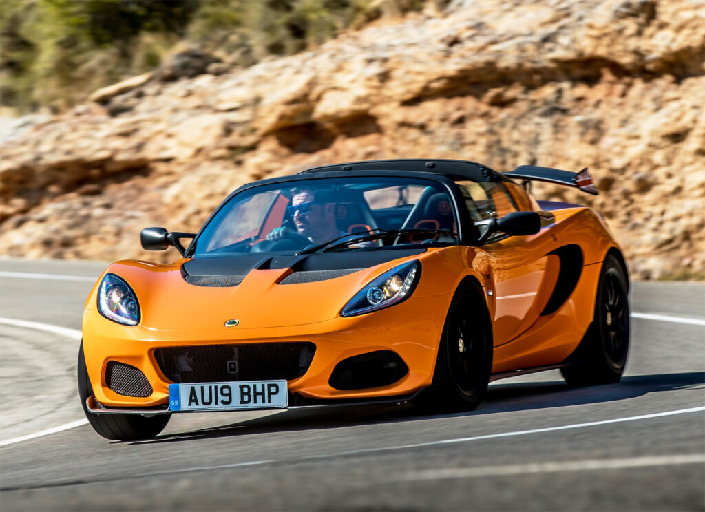 Lotus Elise Cup 250 being driven