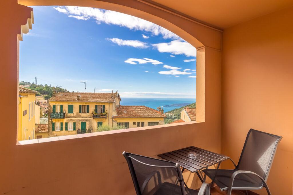The view from Hôtel Napoleon in La Turbie Monaco
