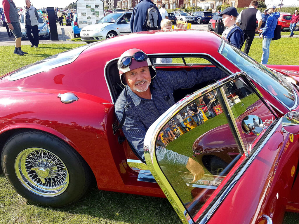 Owner with his Ferrari GTO at Lytham Classic Car Show 2018
