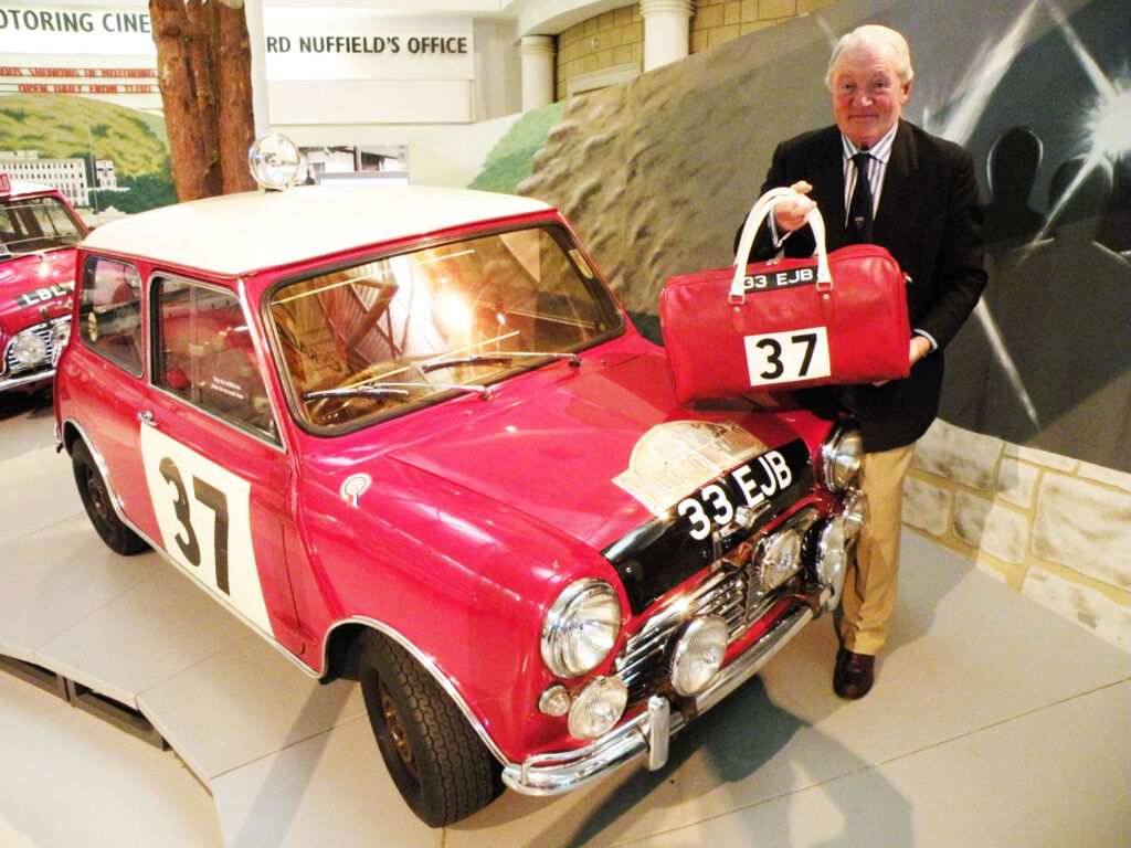 Paddy Hopkirk with bespoke luggage by Jordan Design