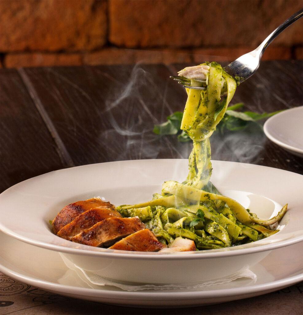 Pasta dish made with Scala Pesto
