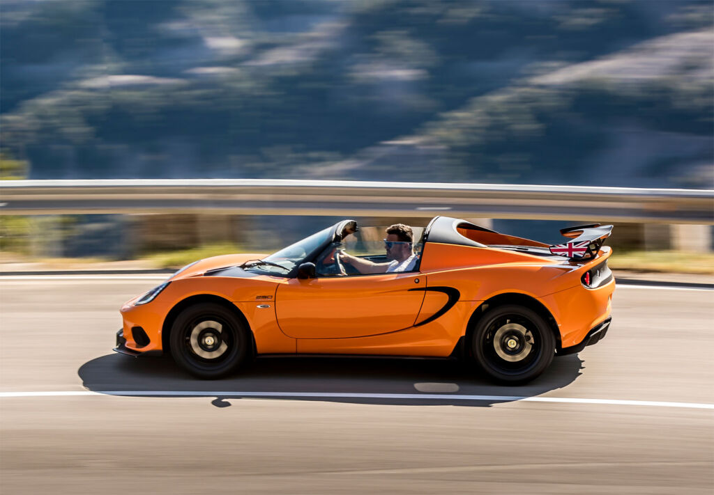 Putting your foot down in a Lotus Elise