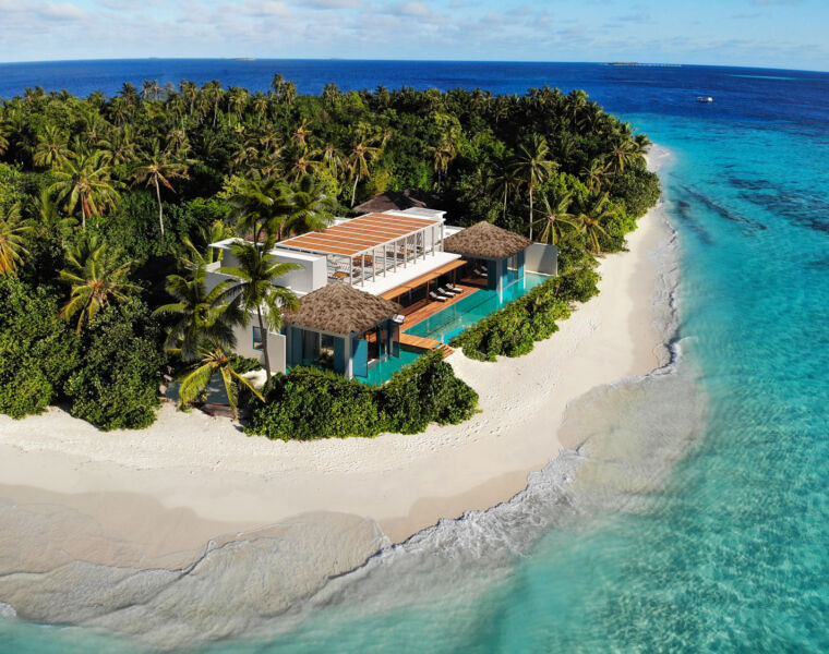 Escape the World at the Raffles Royal Residence in the Maldives
