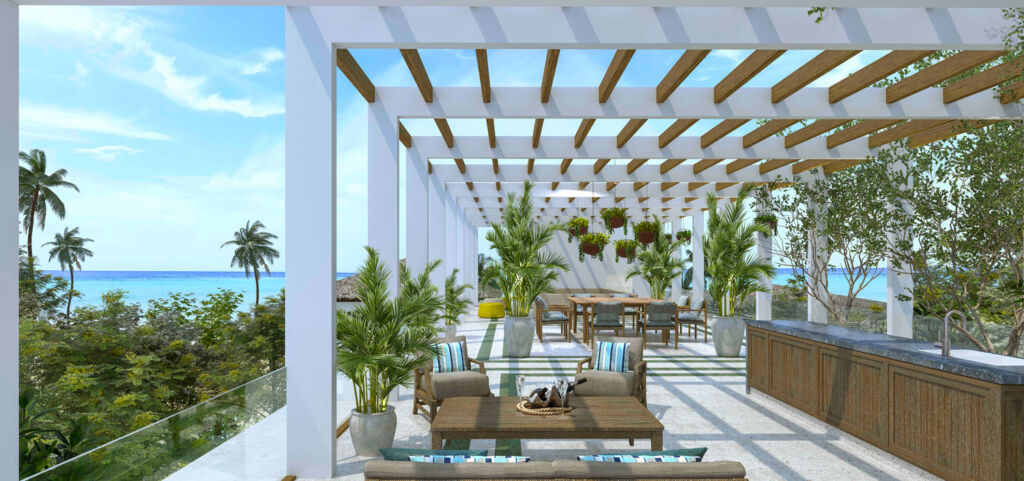 Roof terrace at the Raffles Royal Residence in the Maldives