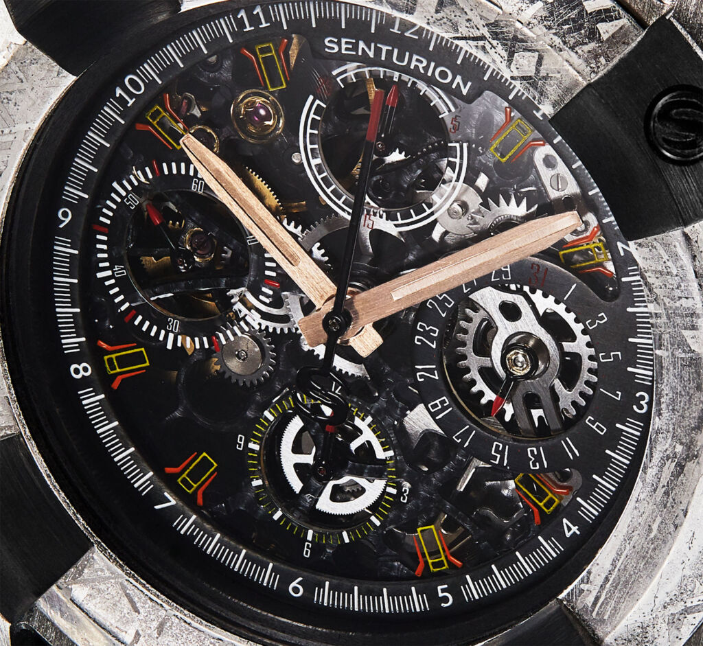 Senturion Key meteorite watch movement