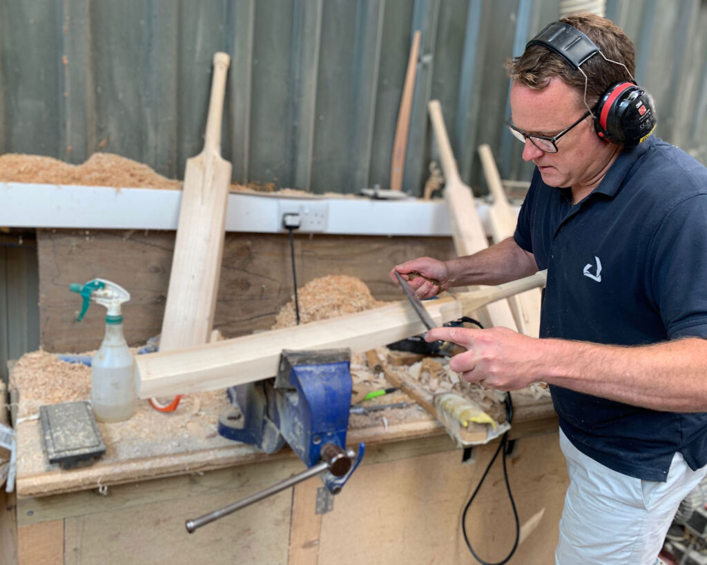 Shaping a cricket bat the traditional way