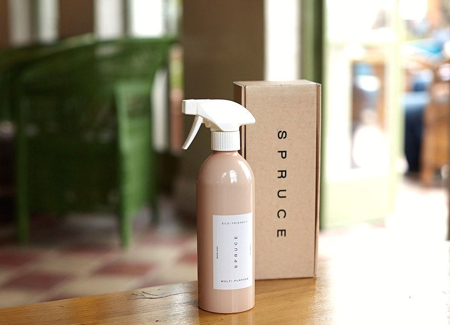 Spruce multi-purpose cleaner with packaging