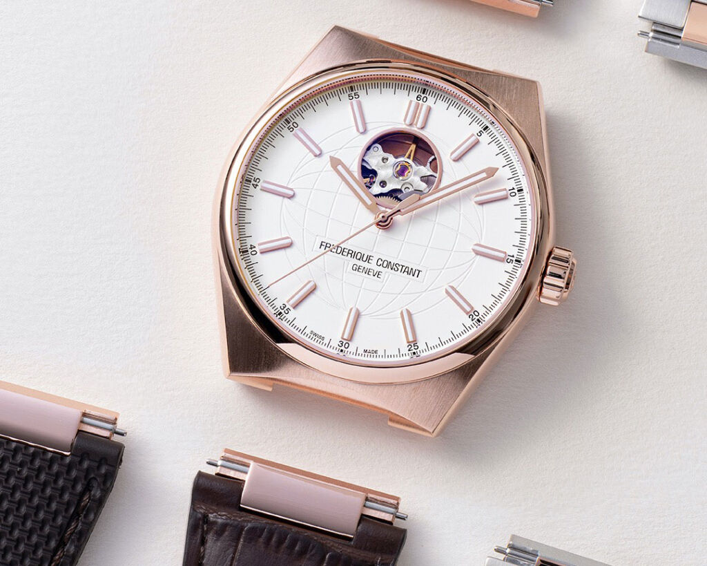 Switch straps on the Frederique Constant Highlife