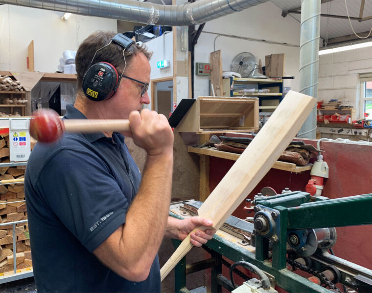 Learning the Art of Bat Making with Chase Cricket in Hampshire