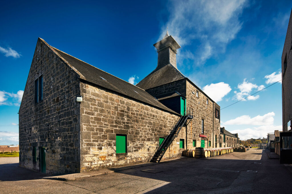 The Benriach Distillery building from the outside