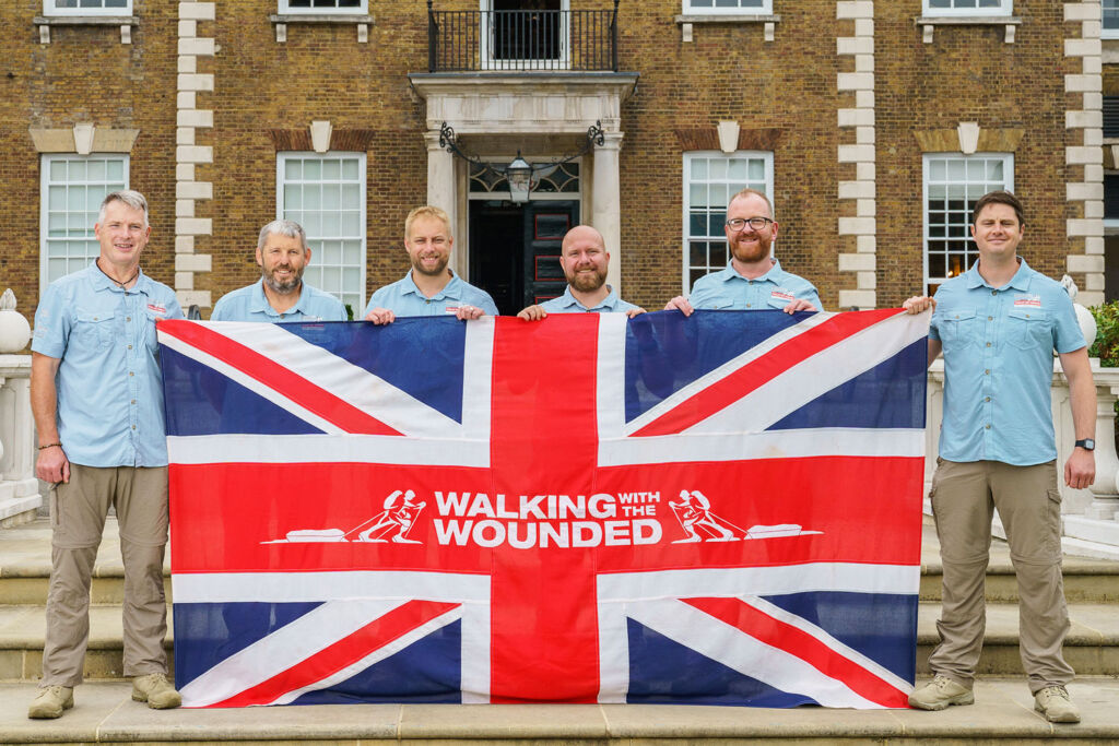 The Grenadier Walk of Oman team with the Union Jack